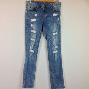 Empyre Jeans Skeletor Skinny Mens 30 Distressed